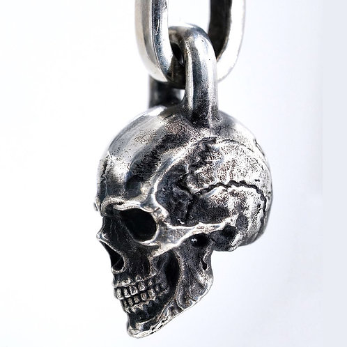 Handmade silver 925 sterling silver personalized skull pendant