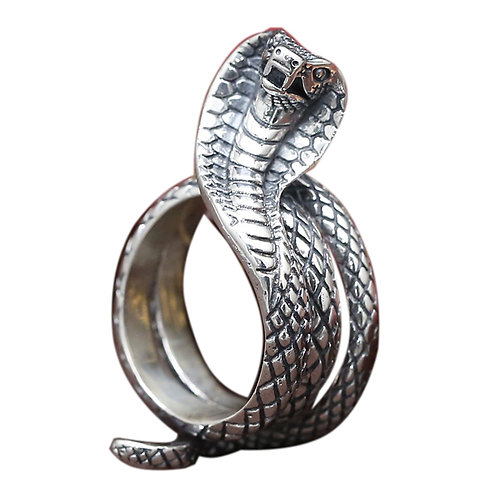 of 925 sterling silver snake goth punk ring