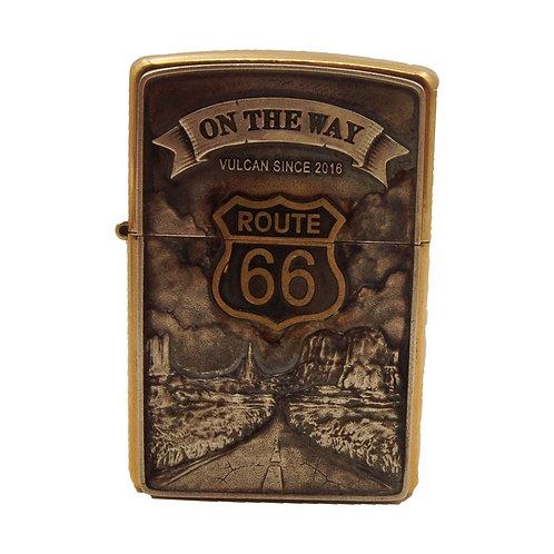 Route 66 Belt Buckle Handmade original 925 sterling silver