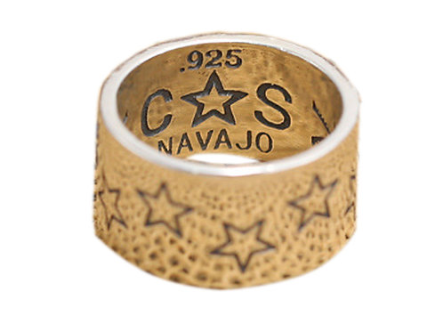 925 sterling silver stars goth punk ring