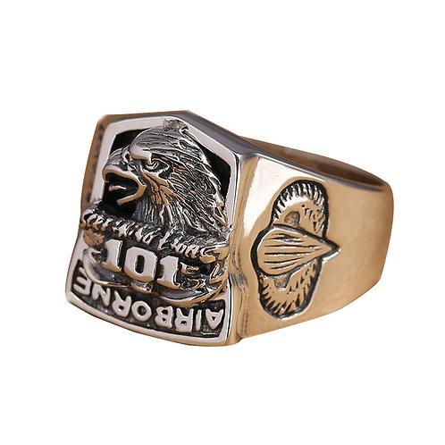 925 sterling silver leopard head punk rider ring