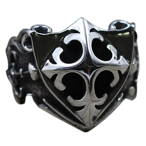 925 sterling silver punk shield ring