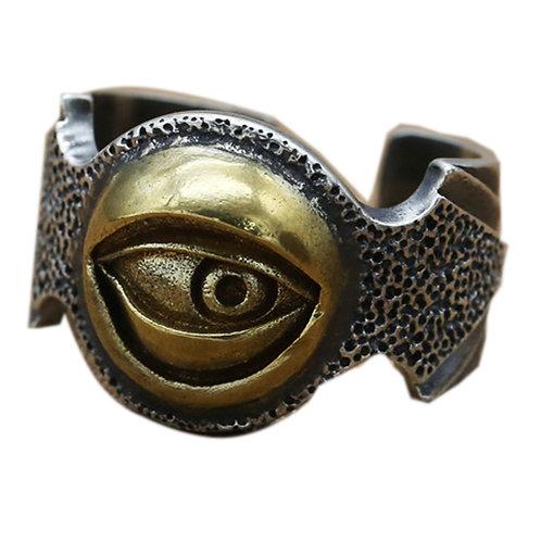 925 sterling silver eye goth punk ring