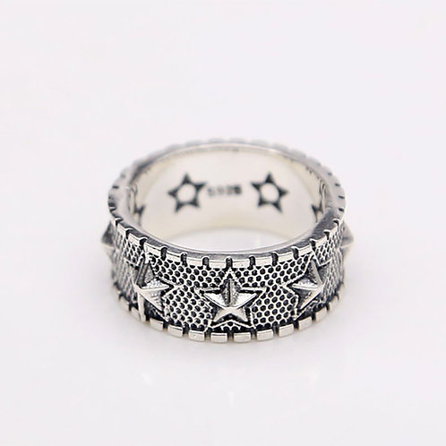 925 sterling silver goth punk hardcore rider ring