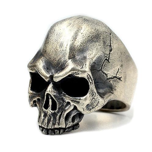 925 sterling silver skull goth punk ring