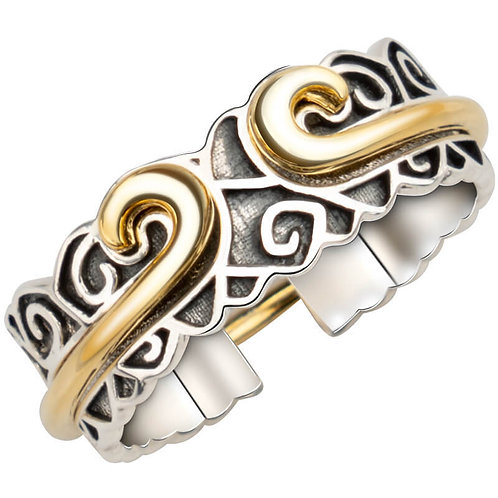 925 sterling silver pattern goth punk ring