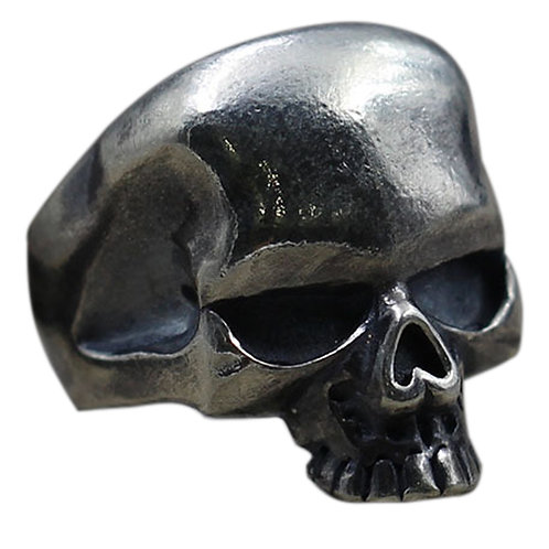 925 sterling silver vintage skull ring