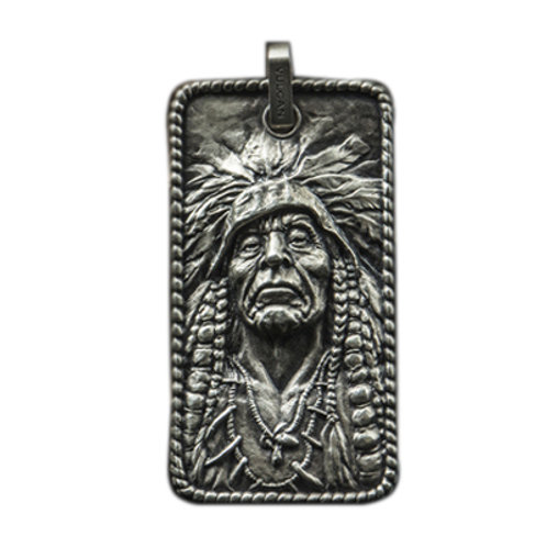 Indian chief pedant Handmade original 925 sterling silver
