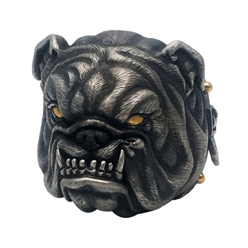 bulldog ring Handmade original 925 sterling silver