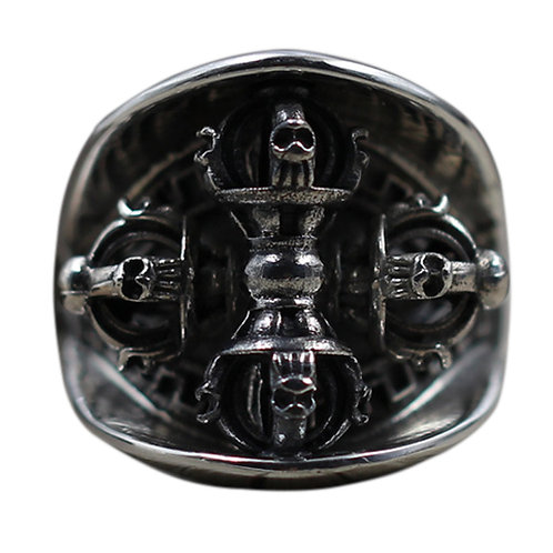 925 sterling Buddhism and vintage ring