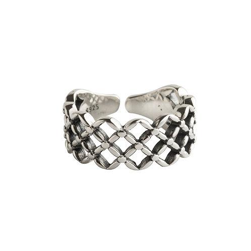 925 sterling silver goth punk pierced fashion ring