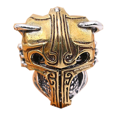 925 sterling silver armor goth punk ring