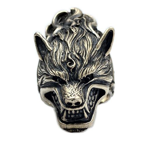 925 sterling silver dragon goth punk ring