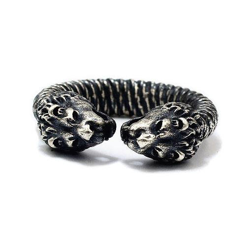 925 sterling silver puma goth punk ring
