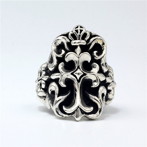 925 sterling silver crown goth punk ring