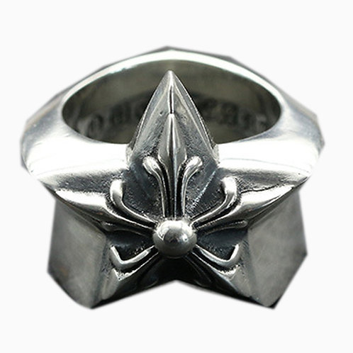 925 sterling silver goth punk star ring