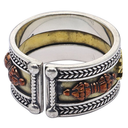 925 sterling silver Buddhism and vintage ring