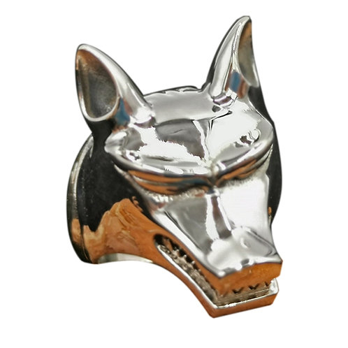 925 sterling silver wolf goth punk ring