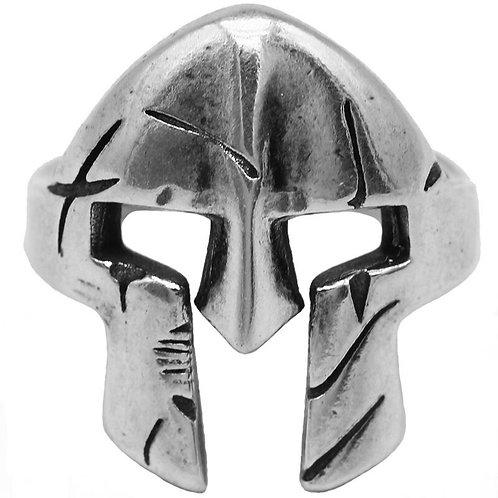 925 sterling silver Spartan mask vintage rider ring