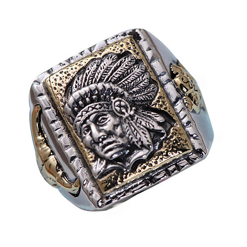 925 sterling silver Indian punk rider ring