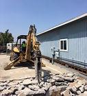 tractor, concrete demolition