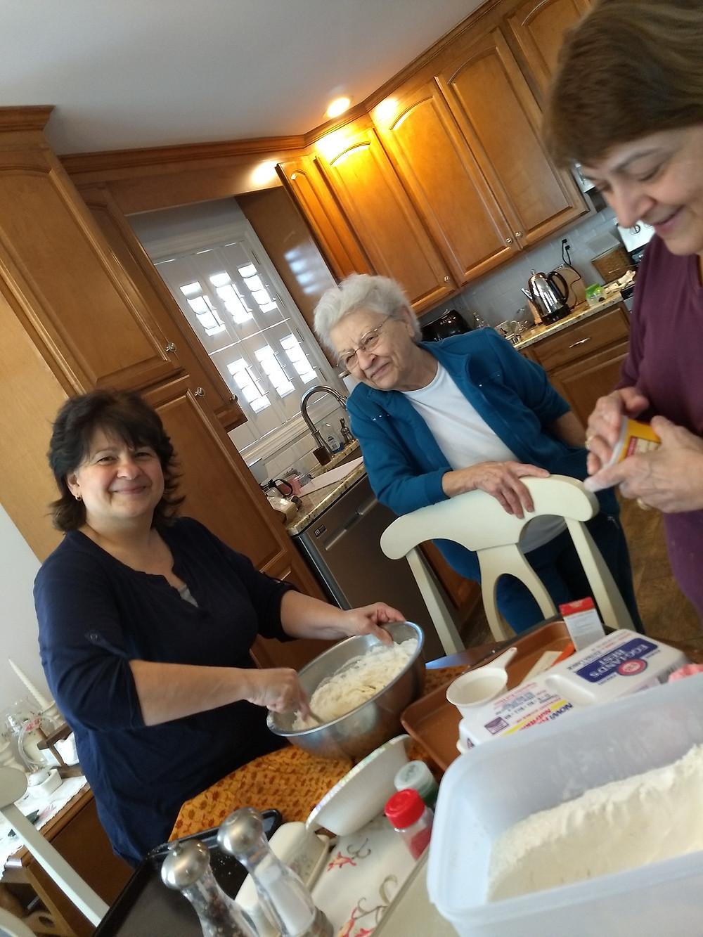 We had lots of fun baking with Mom today!