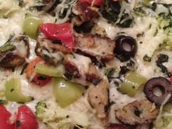 Cauliflower/ Zucchini Pizza Crust....Pizza