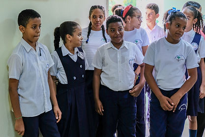 TEARS school children at opening ceremon