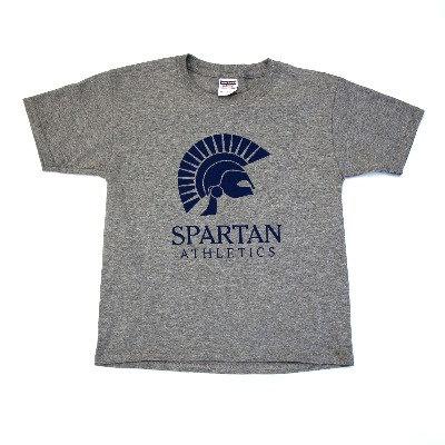 Grey Spartan T-Shirt (Grades 7-12)