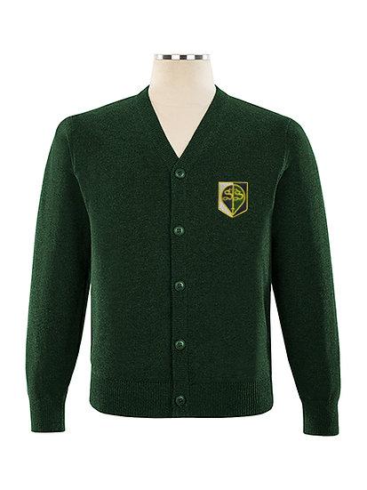 Green STS Cardigan (Grades K-12)