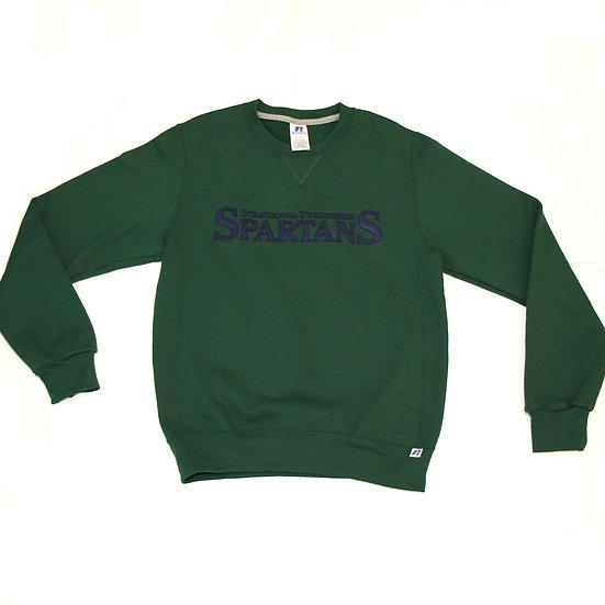 Green with Navy  Crewneck (Grades 7-12)