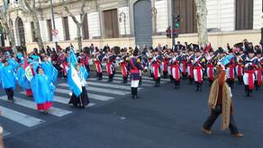 Desfile militar por el 9 de Julio en Buenos Aires