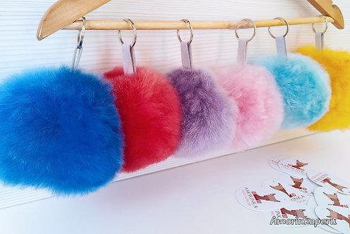 Alpaca Keychain Colors PomPom