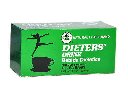 Dieters Drink Bebida Dietetica - 18 Tea Bags/Box