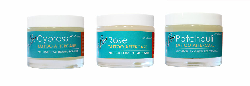 Tattoo Aftercare Set of 3 | Rose\ Patchouli\ Cypress