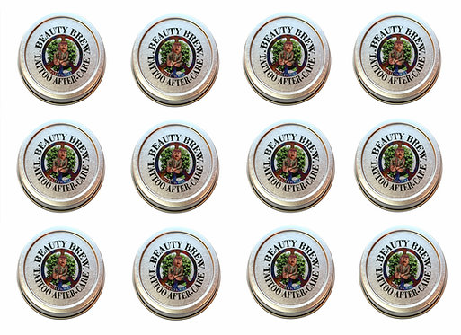 100 Pack |  Patchouli Tattoo Aftercare Balm 1 oz. Tins