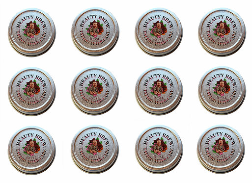 24 Pack | Rose Tattoo & Microblading Aftercare 1oz. Tins