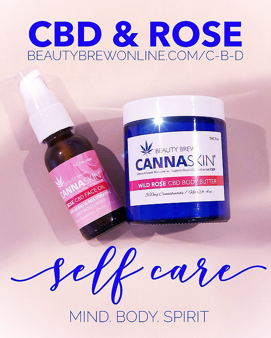 CBD & Rose Face Oil & Body Butter Set