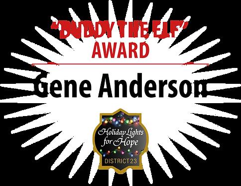 """Gene-Anderson-W-""""Buddy-the-Elf""""-AWARD.pn"""