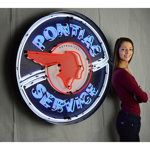 "Super Large 36"" Pontiac Service Neon Sign!"