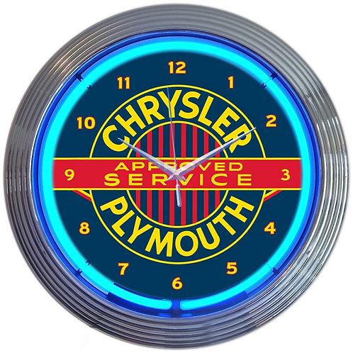 Chrysler Plymouth Neon Clock