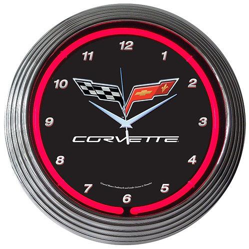 GM Corvette C6 Neon Clock