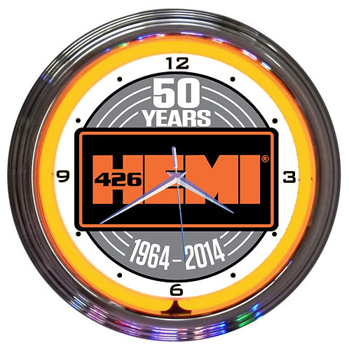 Hemi 50th Anniversary Neon Clock