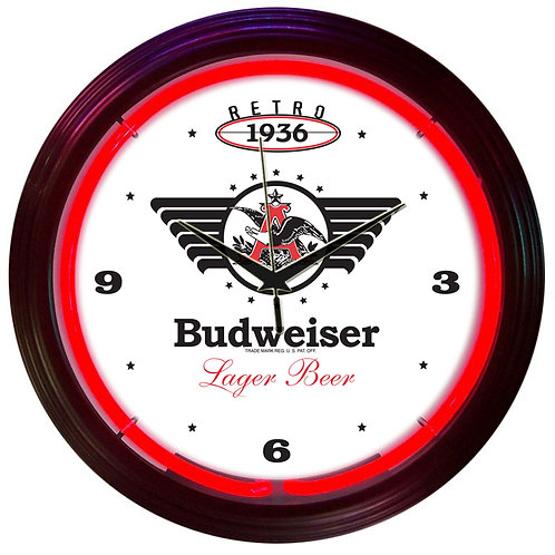 Budweiser Retro 1936 Neon Clock