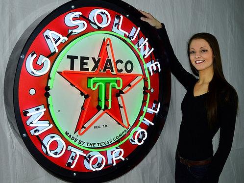 "Super Large 36"" Texaco Motor Oil Neon Sign!"