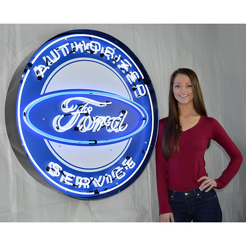 "Super Large 36"" Ford Service Neon Sign!"