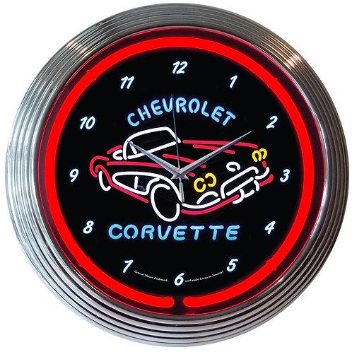 GM Corvette C1 Neon Clock