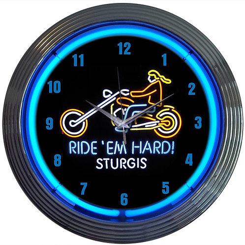 Ride Em Hard Neon Clock *Free Shipping in U.S*
