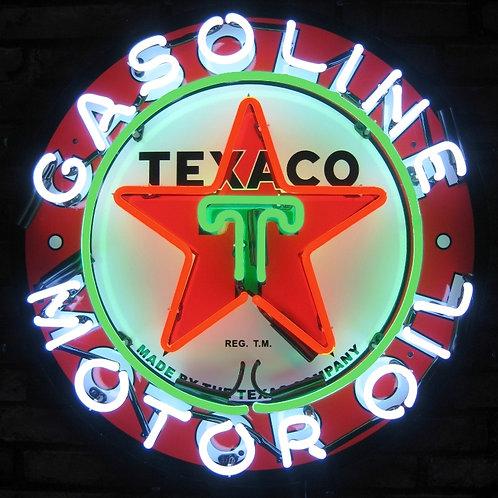 "Texaco Gasoline & Motor Oil 24"""