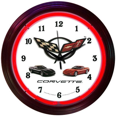 GM Corvette C5 Neon Clock